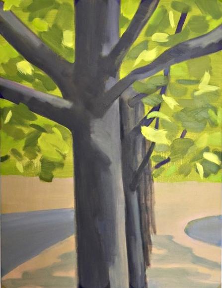 Spring Avenue, 87.5 x 66cm, oil on canvas, 2017 final